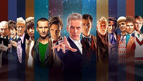 Tutte e 13 le incarnazioni del Dottore.