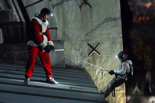 Una scena di un furto durante il film
