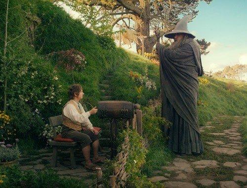 Gandalf e Bilbo.