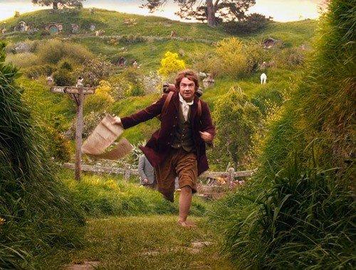Bilbo parte per un'avventura.