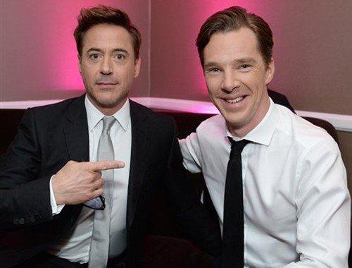 Robert Downey Jr. e Benedict Cumberbatch.