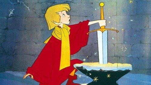 Artù (detto Semola) estrae la spada dalla roccia